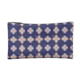Navy Kaleidoscope Pattern Cosmetic Bag