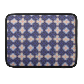 Navy Kaleidoscope Pattern Sleeve For MacBook Pro