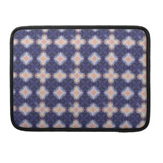 Navy Kaleidoscope Pattern Sleeves For MacBooks
