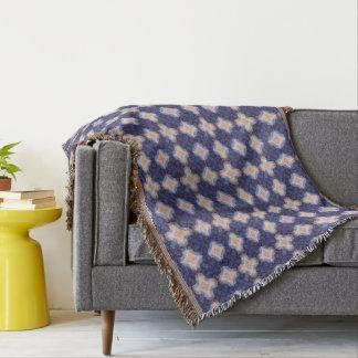 Navy Kaleidoscope Pattern Throw Blanket