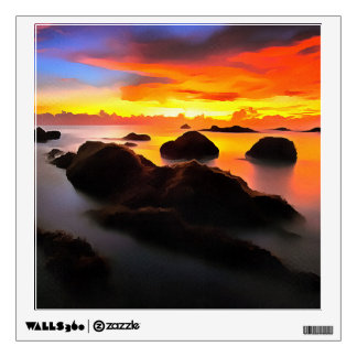 Navy Landscape at sunrise Wall Decal