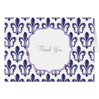Navy/Lavender Thank You Card