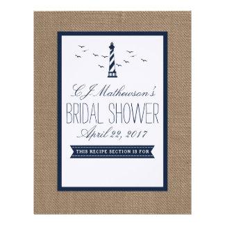 Navy Lighthouse Nautical Bridal Shower Divider Letterhead