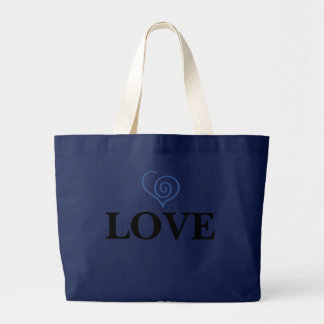 Navy Love Full Size Tote