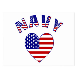 Navy Love Postcard