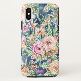 Navy MAUI MINDSET Colorful Tropical Floral iPhone X Case