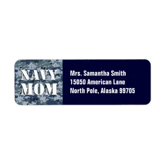 Navy Mom Blue Camouflage