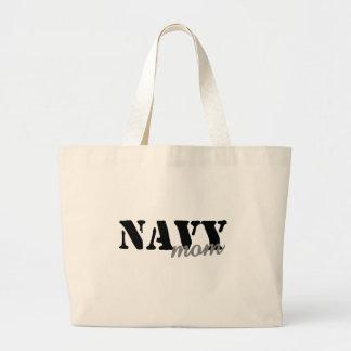 Navy Mom Canvas Bag