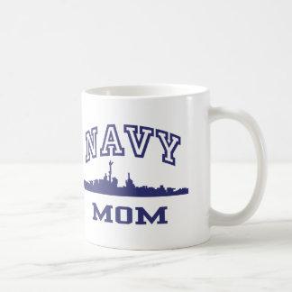 Navy Mom Classic White Coffee Mug