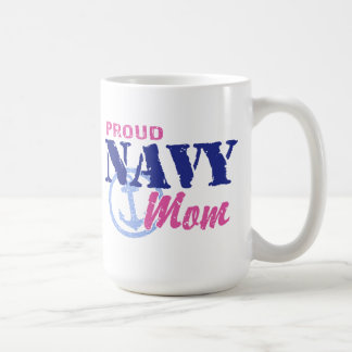 Navy Mom Coffee Mugs