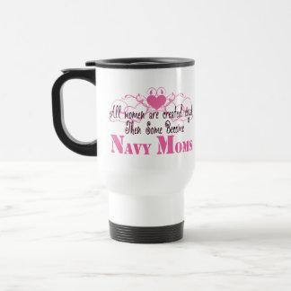 Navy Mom, Created Equal Travel Mug