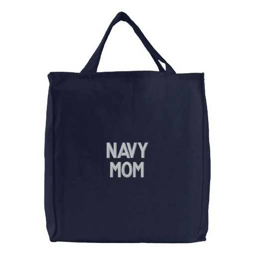 Navy Mom Canvas Bags