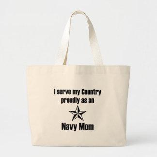 Navy Mom Serve Tote Bag