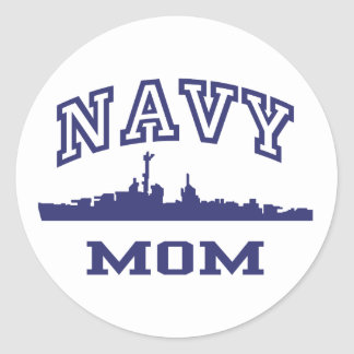 Navy Mom Sticker