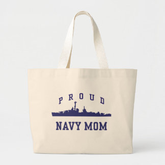 Navy Mom Tote Bags