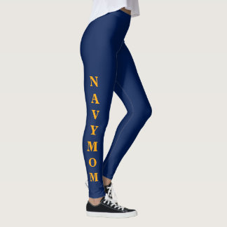 """NAVY MOM"" Women's Leggings"