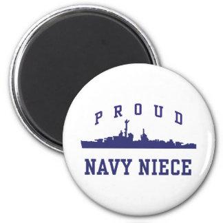 Navy Niece 2 Inch Round Magnet