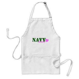 Navy Niece Green Heart Standard Apron