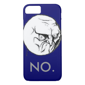 "Navy ""NO."" meme Grey Text Funny iPhone 7 Case"