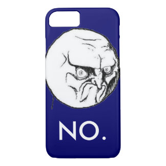 "Navy ""NO."" meme White Text Funny iPhone 7 Case"