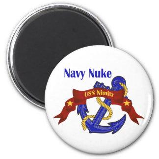 Navy Nuke ~ USS Nimitz 2 Inch Round Magnet