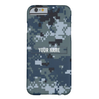 Navy NWU Camouflage Customizable Barely There iPhone 6 Case