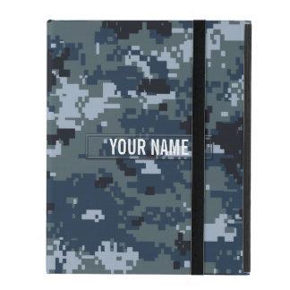 Navy NWU Camouflage Customizable iPad Case