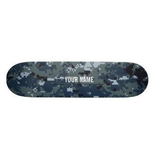 Navy NWU Camouflage Customizable Skateboards