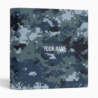 Navy NWU Camouflage Customizable Vinyl Binder