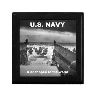 navy open door keepsake box