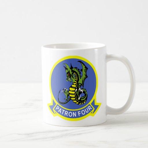 Navy Patrol Squadron VP-4 Basic White Mug