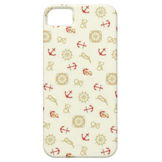 Navy pattern red anchors iPhone 5 covers