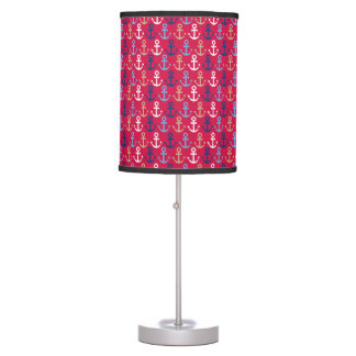 Navy pattern table lamp