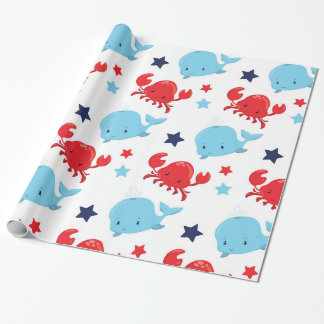 Navy pattern wrapping paper