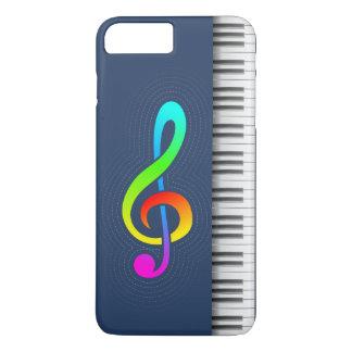 Navy piano & treble key iPhone 8 plus/7 plus case