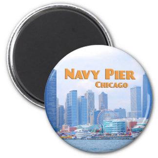 Navy Pier - Chicago Illinois 2 Inch Round Magnet