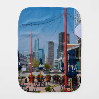 Navy Pier Lines Baby Burp Cloth