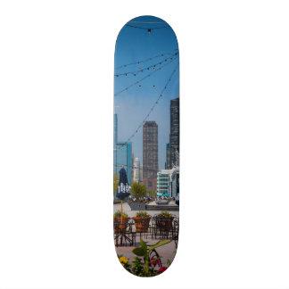 Navy Pier Lines Skate Board