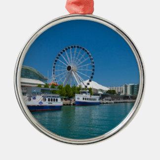 Navy Pier Metal Ornament