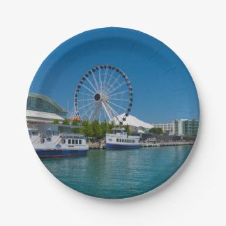 Navy Pier Paper Plate