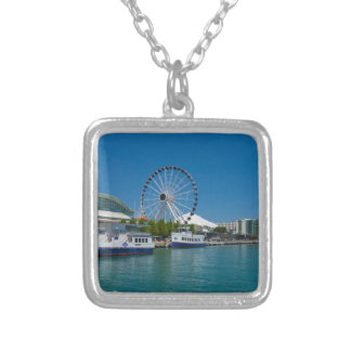 Navy Pier Silver Plated Necklace