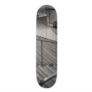 Navy Pier Stairs Grayscale Skate Decks