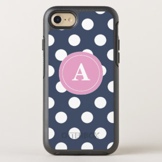 Navy Pink Dots OtterBox Symmetry iPhone 7 Case