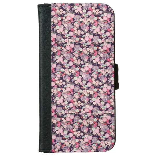 Navy & Pink Iphone 6/6s Phone Case iPhone 6 Wallet Case