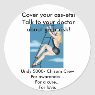 Navy Pinup Round Sticker