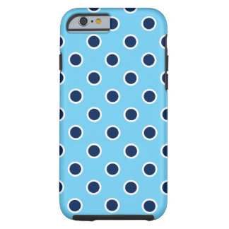 Navy Polka Dots on Bright Blue iPhone 6/6s Case