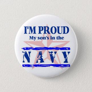 Navy proud - son 2 inch round button