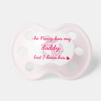 Navy Quote and Anchor Baby Girl Pacifier