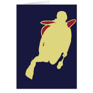 Navy related on yellow and blue. card