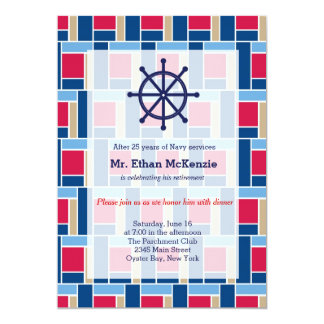 Navy Retirement 5x7 Paper Invitation Card